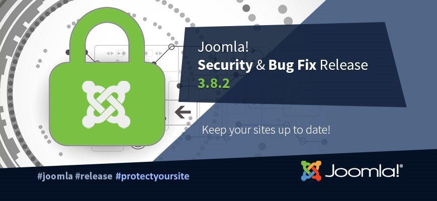 Выход новой версии Joomla 3.8.2 - релиз безопасности