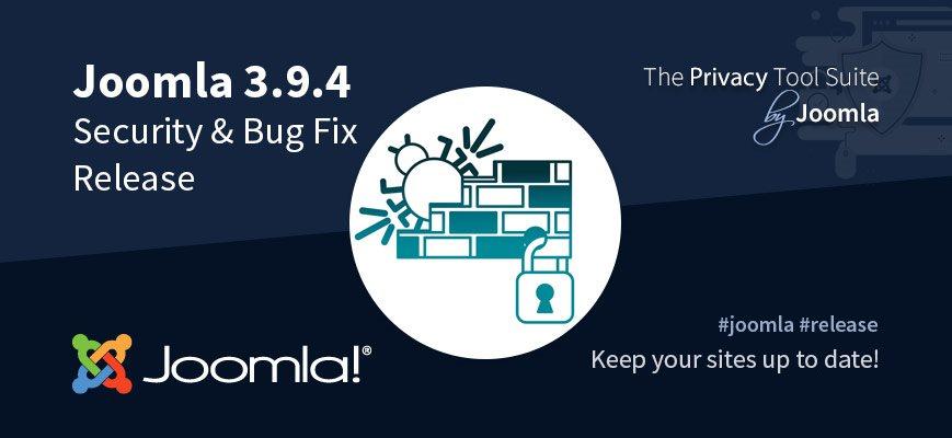 Релиз безопасности Joomla 3.9.4