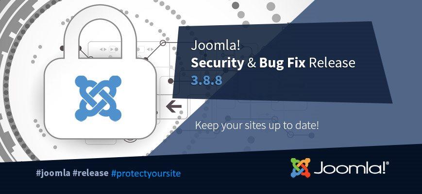 Обновление безопасности Joomla 3.8.8