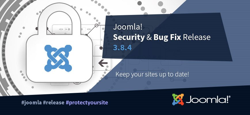 Релиз безопасности Joomla 3.8.4